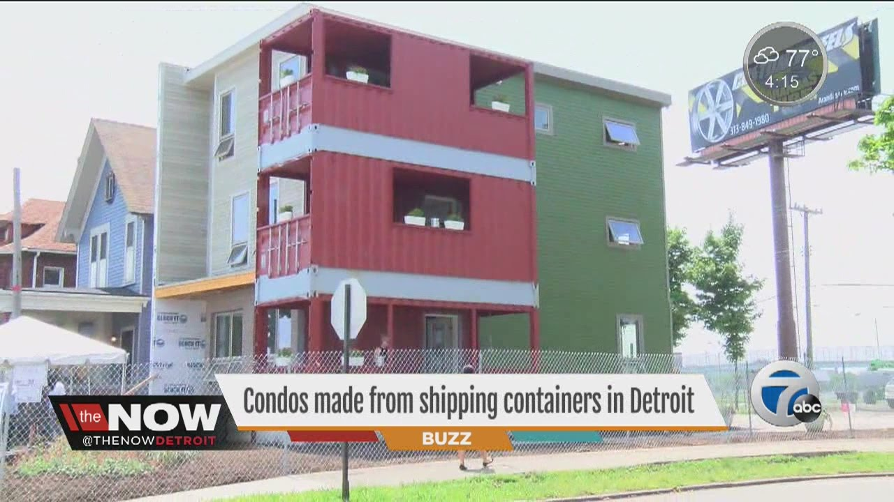 condos made from shipping containers - youtube