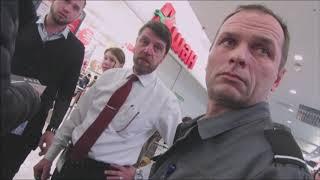 Подборка видео с охранниками. Охранник имеет право затевать конфликт на основании Конституции РФ.