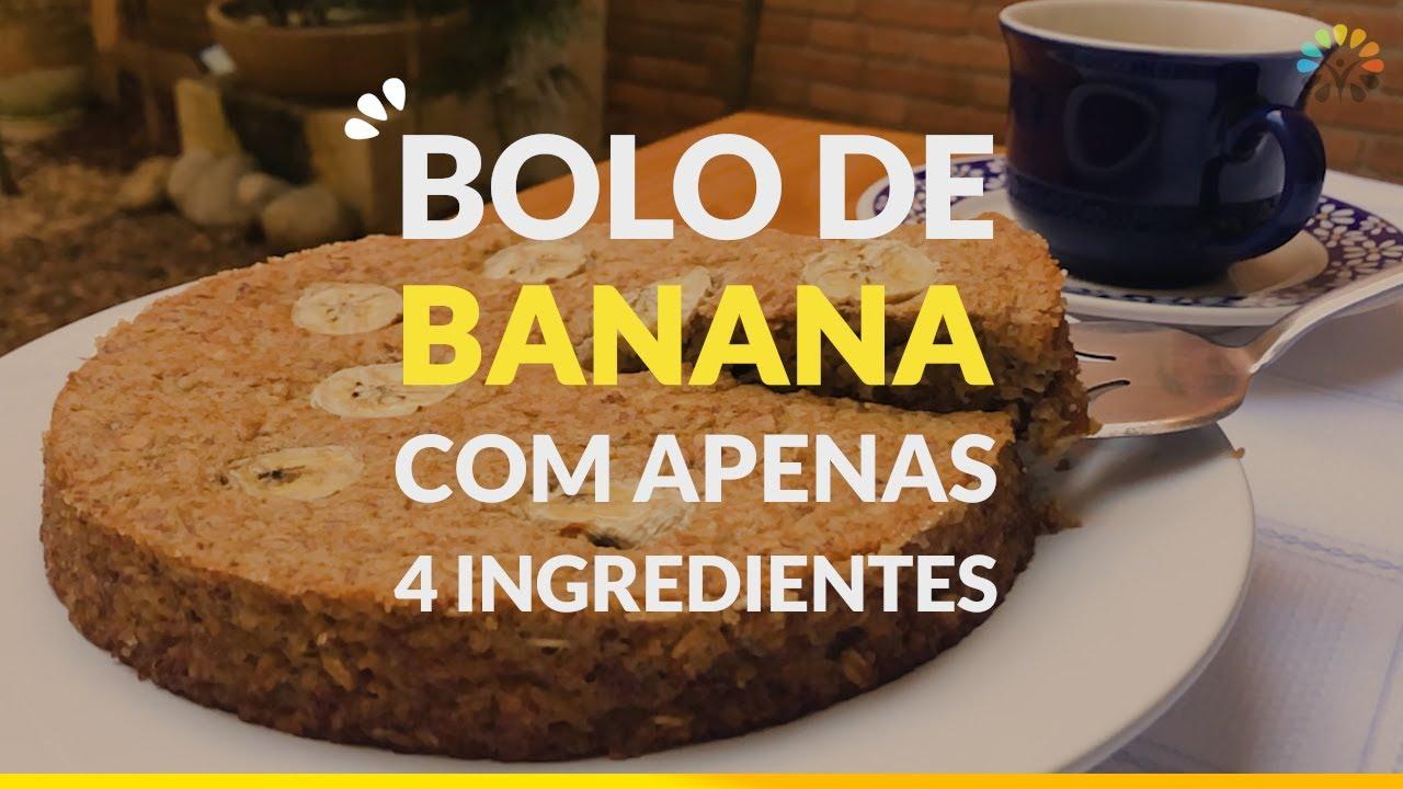 Bolo de Banana com 4 ingredientes
