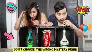 Don't Choose the WRONG Mystery DRINK CHALLENGE !!