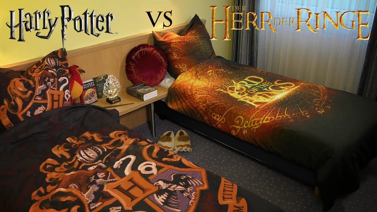 harry potter vs der herr der ringe epische bettw sche. Black Bedroom Furniture Sets. Home Design Ideas