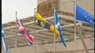Scottish flags waved at Holyrood Parliament