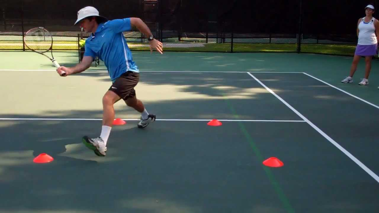 Tennis Drills The Running Step Split Step Volley