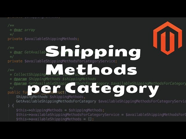 Shipping Method per Category Extension for Magento 2