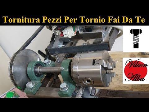 Tornitura Pezzi Meccanici Per Seby Torrisi   Tornio Fai Da Te [ Homemade Lathe ]