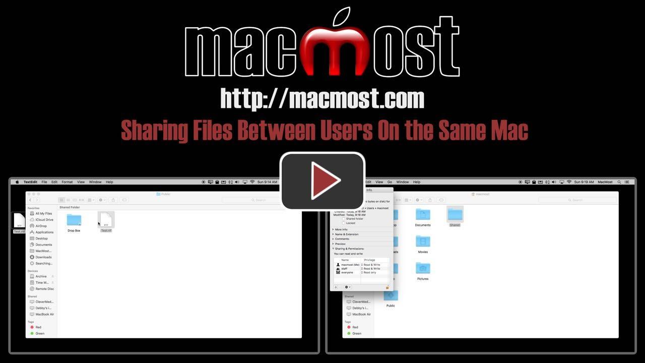 create shared folder between users mac