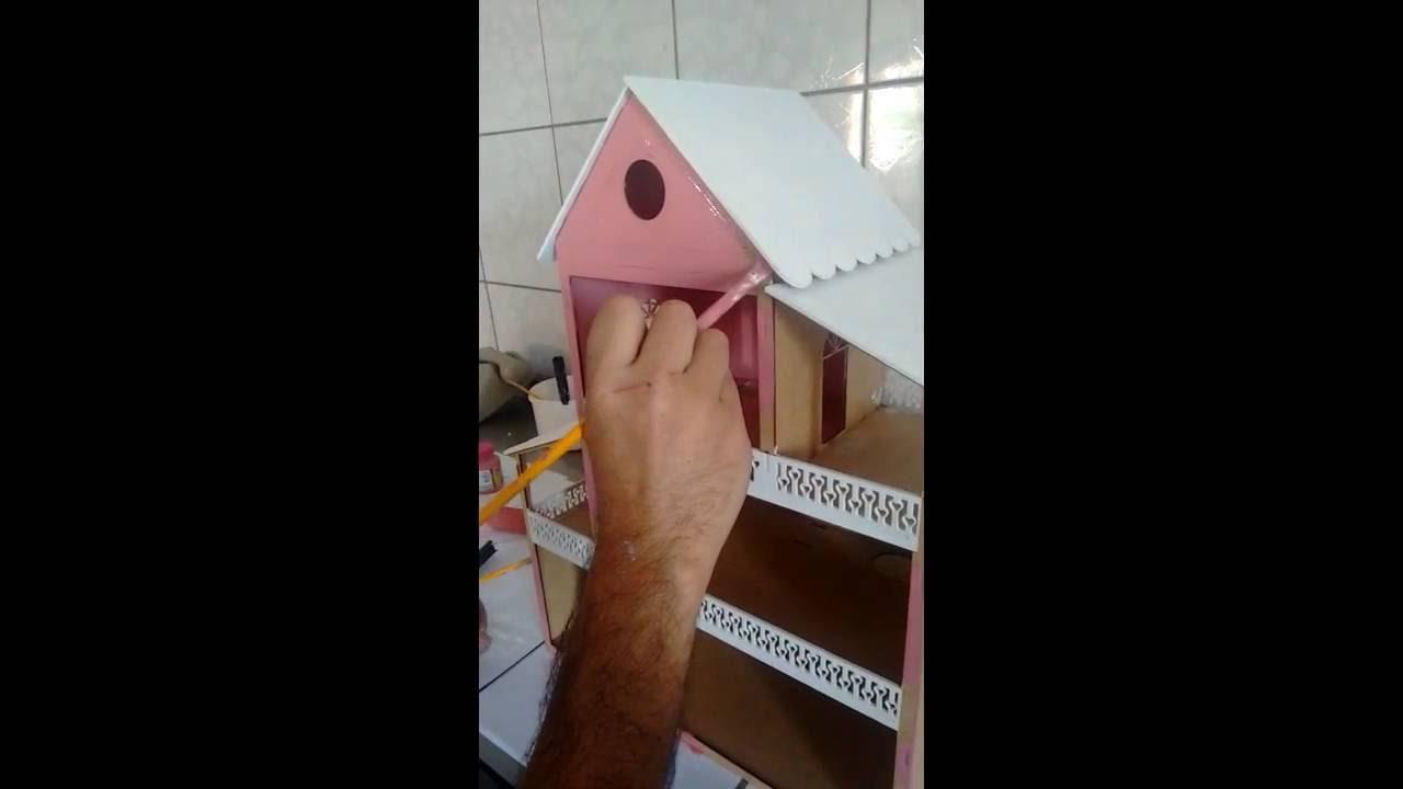 4c2db4602 Pintando Casinha MDF Da Polly - YouTube