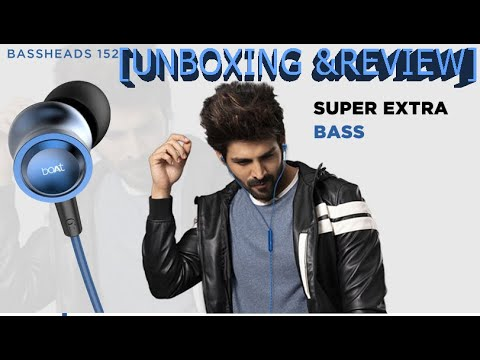 boAt BassHeads 152 Wired Earphones with Super Extra Bass,Built-in Mic [Unboxing &Review]