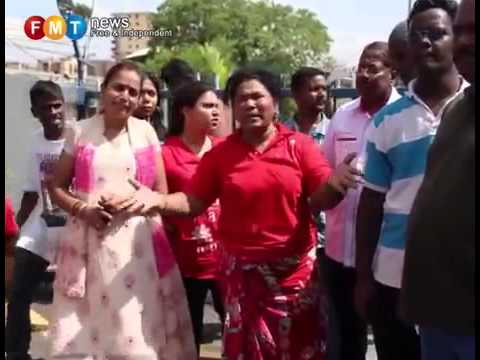 Mock funeral for Darmindran at IPK KL
