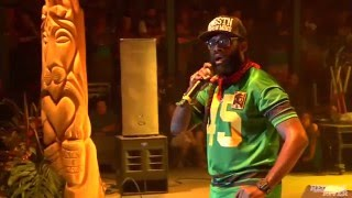 Tarrus Riley and Blak Soil performing a medley of songs live at Reggae On The River 2015