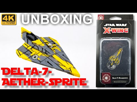 Star Wars X-Wing 2. Edition: Delta-7-Aethersprite - WAVE 3 - Unboxing (4K)