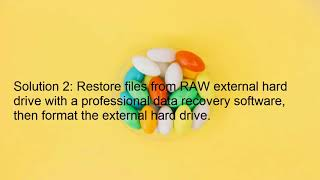 How to repair/fix RAW external hard drive without data loss?