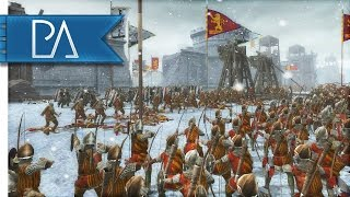 AMAZING MEDIEVAL SIEGE BATTLE - Medieval 2 Total War Gameplay