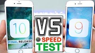 iOS 10 vs 9.3.5 Speed Test on ALL iPhones!