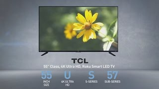 TCL 55US57 55 inch LED UHD  4K TV  // Full Specs Review (55US57)   #TCL