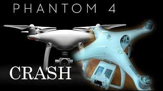 Падение Квадрокоптера PHANTOM 4 | DRONE CRASH DJI авария