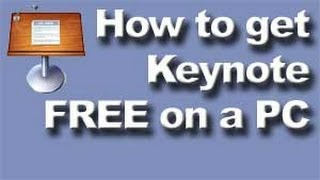 How to get Keynote FREE on a PC Windows computer
