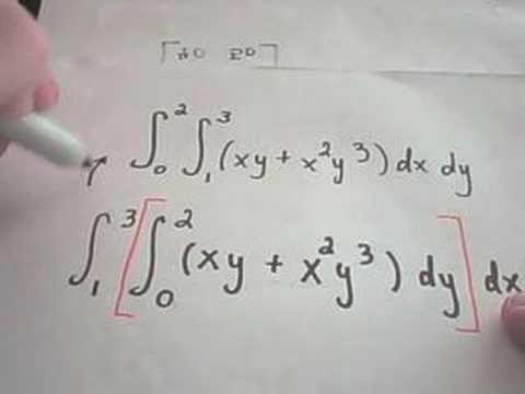 Calculating a Double Integral - YouTube