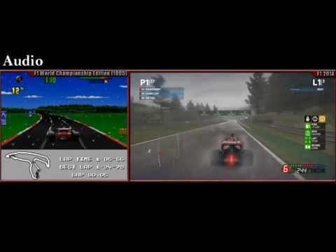 F1 1995 VS F1 2014 Side By Side Comparison [First Race, Spa Francorchamps]