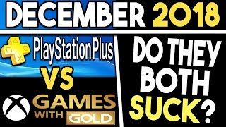 Ps+ Vs Xbox Gwg Free Games For December 2018 - Do They Both Suck?