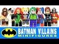 Batman Villains of Gotham w/ Joker Harley Quinn Deadshot Catwoman LEGO Knockoff Minifigures