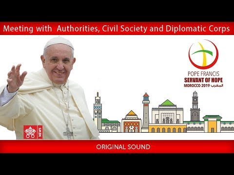 Pope Francis-Rabat–Welcome Ceremony and Meeting with the People 2019-03-30