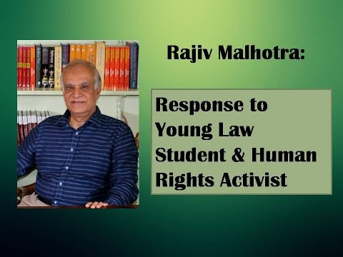 Response to Young Law Student & Human Rights Activist #2