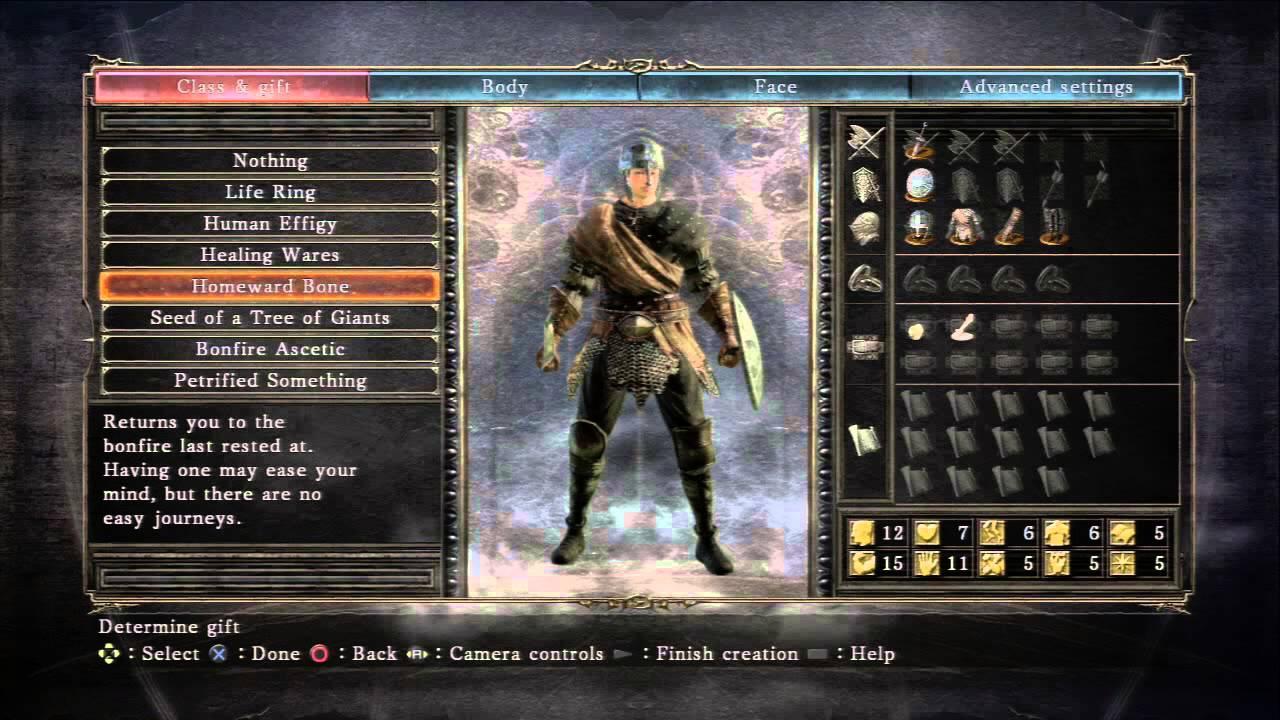 Dark Souls II - Gift Choices: Life Ring, Healing Wares, Homeward ...
