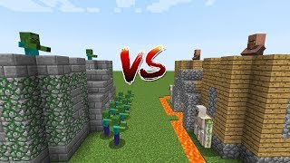 Minecraft Battle: CASTLE VILLAGER VS CASTLE ZOMBIE