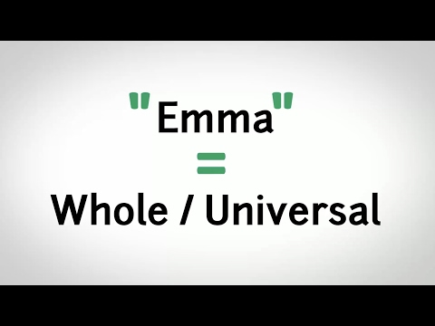 What Does Emma Mean?