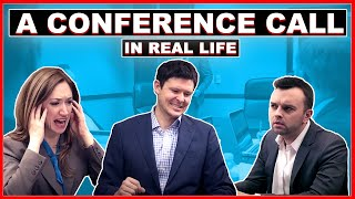 A Conference Call in Real Life(WATCH THE SEQUEL! A VIDEO Conference Call in Real Life: https://youtu.be/JMOOG7rWTPg OUR PODCAST: http://apple.co/1VDQz54 SUBSCRIBE to Tripp ..., 2014-01-22T15:04:54.000Z)