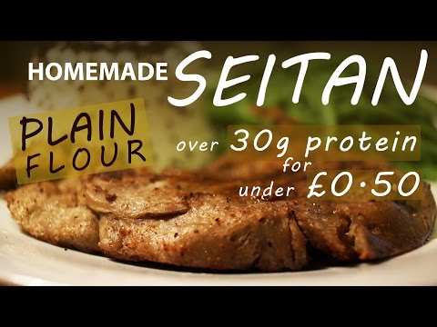 How To Make Seitan From NORMAL Flour || BEST VEGETARIAN VEGAN MEAT Recipe