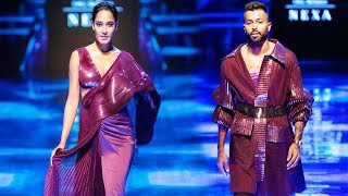 Hardik Pandya & Lisa Haydon Walk For Amit Aggarwal | Fall/Winter 2019/20 | Lakme Fashion Week