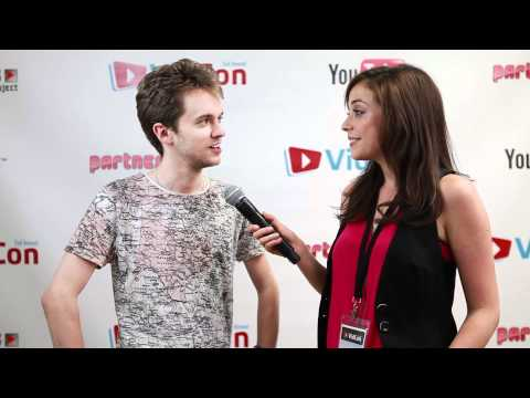 Alex Day backstage at VidCon 2011