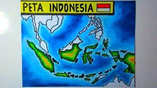 Berkat berada di garis lintang tersebut, bumi pertiwi berada di garis khatulistiwa. Cara Menggambar Peta Indonesia Gambar Peta Indonesia Lengkap Youtube