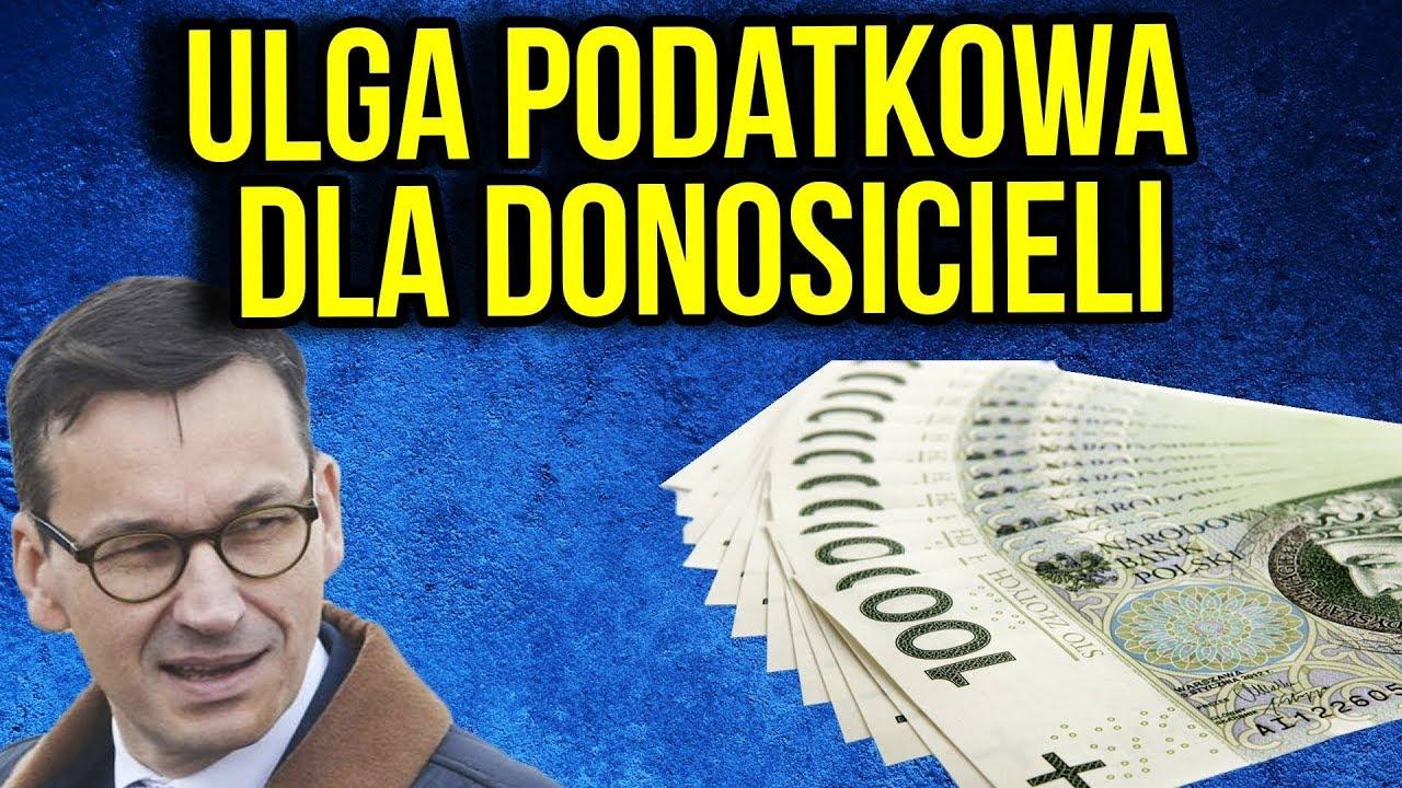 Zwolnienie Podatkowe dla Donosicieli – Nowy Projekt PIS i Premier Morawiecki