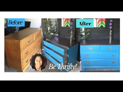 Be Thrifty! Thrift Store Dresser Makeover