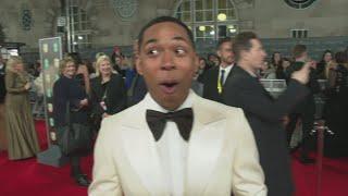 BAFTAs: Kelvin Harrison Jr. HILARIOUS moment with Bridget Jones