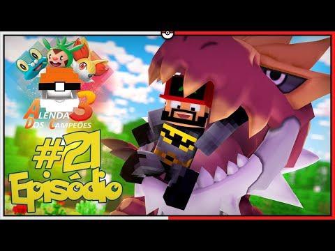 Minecraft A Lenda dos Campeões 3 #21 - Meu Tyrantrum Monstrão [Pixelmon]