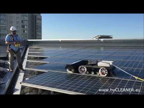 Solar panel and roof cleaning with hyCLEANER® black SOLAR – one machine, many applications