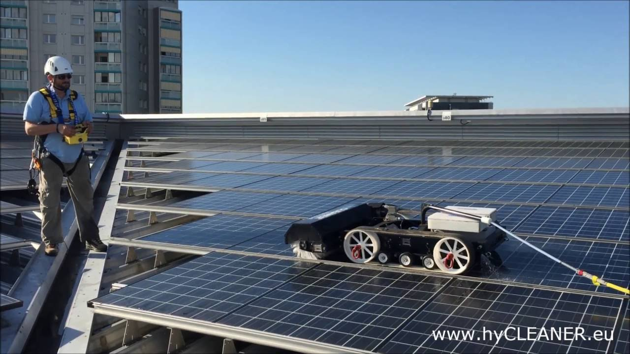 Solar Panel And Roof Cleaning With Hycleaner 174 Black Solar