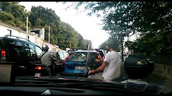 Typical drive on Naples streets