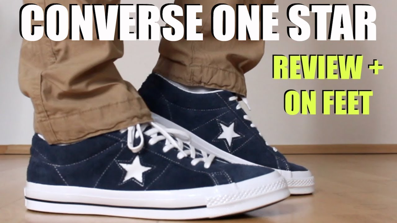 c2da78c54751 CONVERSE ONE STAR REVIEW + ON FEET   SIZING - YouTube