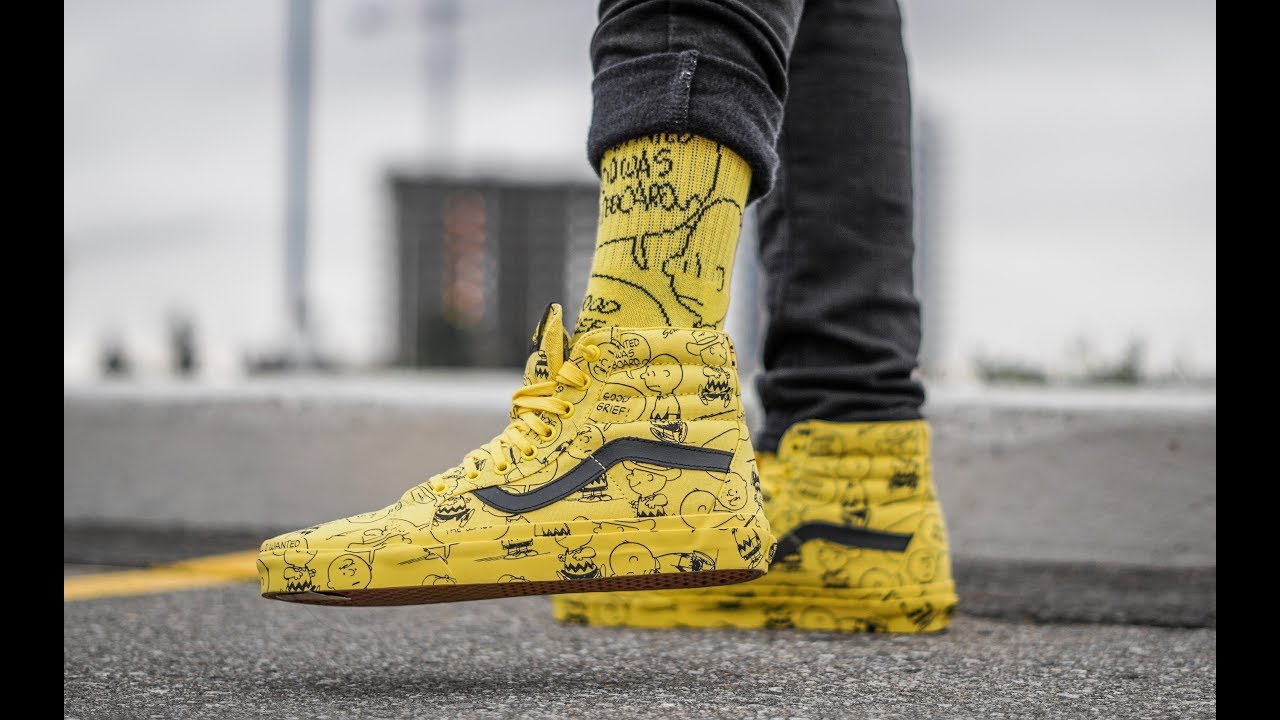 7e4893dcdd UNDERRATED AFFORDABLE SNEAKER COLLAB (VANS X PEANUTS SK8 HI ON FEET REVIEW)