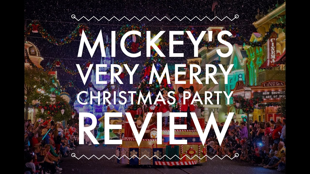 mickeys very merry christmas party review youtube - Mickeys Very Merry Christmas Party Reviews
