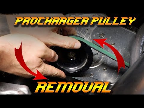 ProCharger Pulley Removal - RAM 1500 HellRAM truck - YouTube