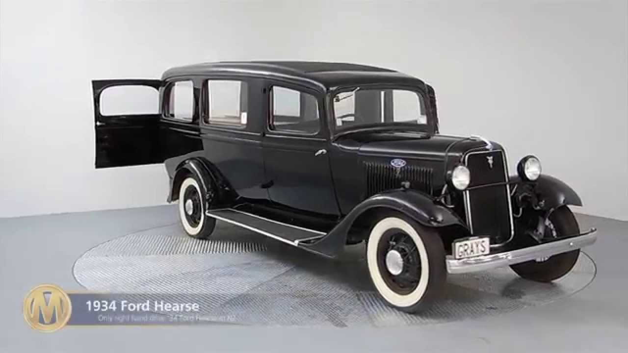 1934 Ford Hearse Station Wagon For Auction At Manheim