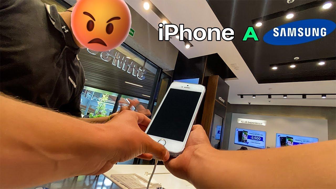 Llevando A Reparar Un Iphone a Samsung
