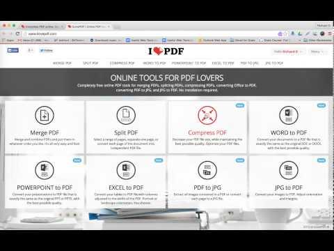 How to use the free PDF web conversion tool, I Love PDF, for Judaic instruction & staff development