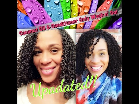 Coconut Oil & Conditioner Wash n' Go Updated | Tia Kirby